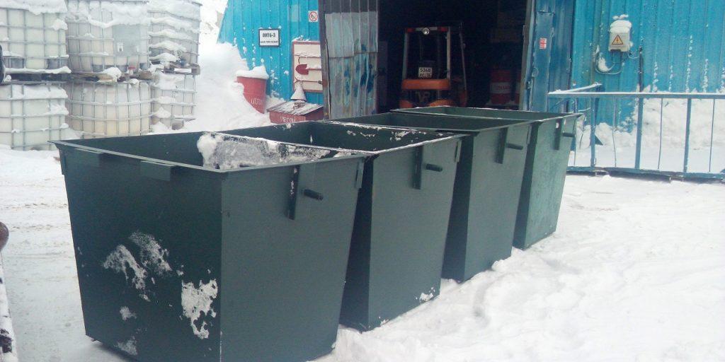 Баки мусорные 1,1 куба