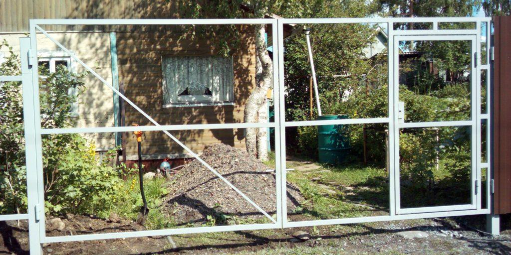 Забор ворота каркас