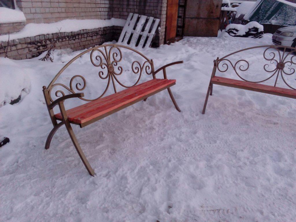 Ковка скамейки