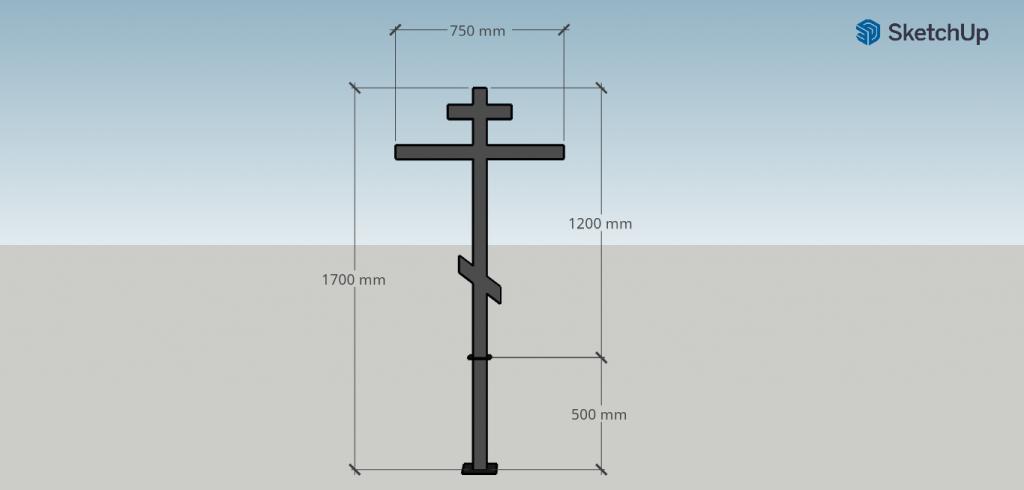 Размеры креста