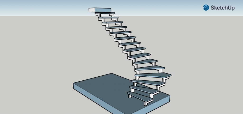Эскиз лестница